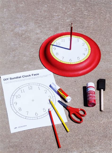 How To Make A Sundial With A Paper Plate - how to make a sundial summer activities paging supermom
