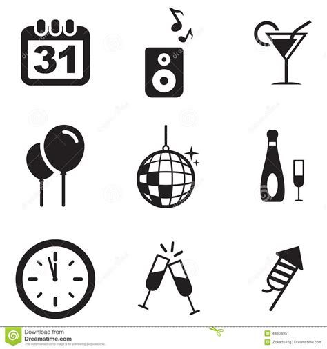 new year icon vector new years icons stock vector image of countdown