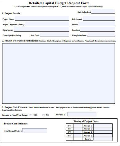 budget request template sle budget request form 9 exles in word pdf