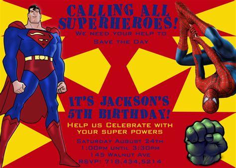 superman layout invitation superhero birthday party invitations bagvania free