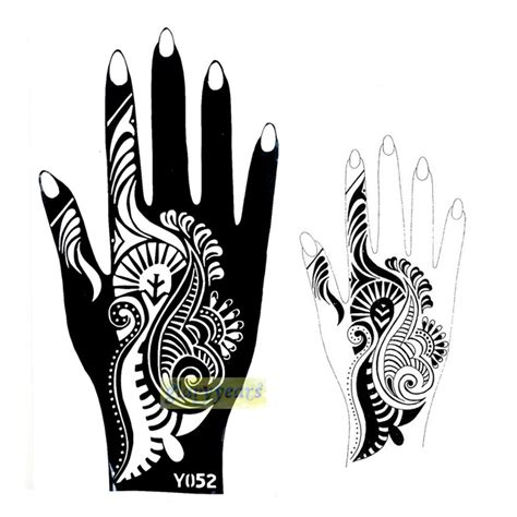 1pc new indian flower lace style henna mehndi temporary