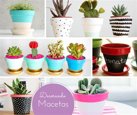 decorar macetas plasticas hogar diez ideas low cost para tu terraza