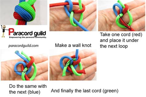 How To Tie A Knot With 3 Strings - how to braid 4 strand rope newhairstylesformen2014