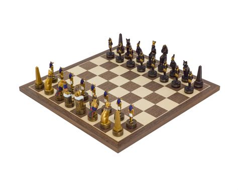 ancient chess set the ancient egypt hand painted themed chess set by