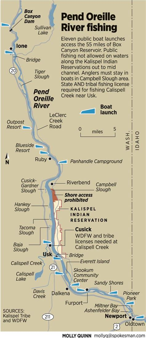 pend oreille river boat launch map bounty on the rise for pike spokesman april 12 2012