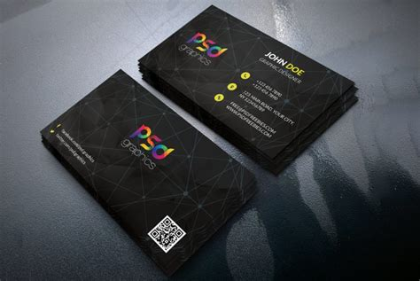 graphic design business cards templates black business card template free psd psd graphics