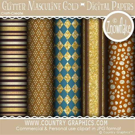 Masculine Gold glitter masculine gold digital papers country graphics