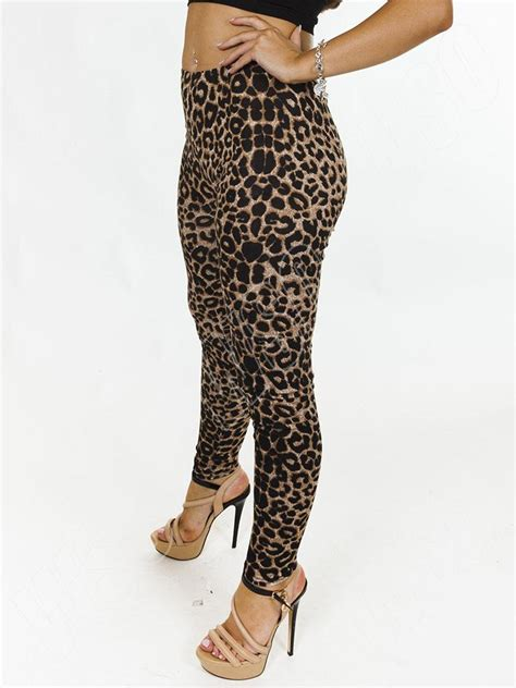 Legging Alissa Size Xl new womens animal leopard print length size s m l xl 10 ebay