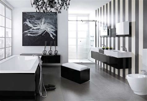 Black And White Bathroom Design | modern black and white bathroom design from noken digsdigs