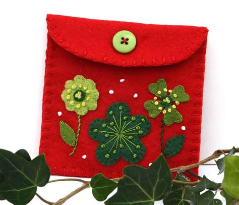 sale felt coin purse christmas gift bag handmade felt