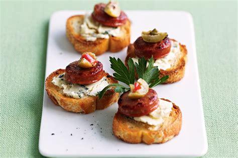 toast canapes blue cheese chorizo canap 233 s food