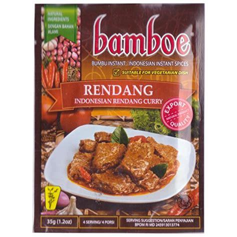 bamboe bumbu instant rendang  gram pack   halalzone