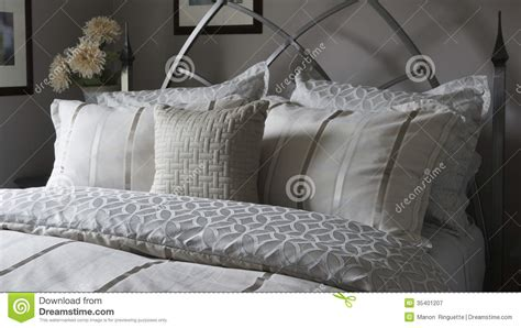 Sham For Bed Bed Linens And Pillow Shams Royalty Free Stock Photography