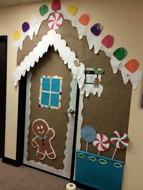 gingrbread house on school door 847 best images about gingerbread ideas on gingerbread and