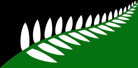 file nz flag design fern green black white by clay