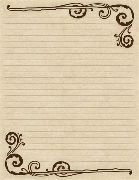 Border Free Printable Lined Paper With Borders Lined Paper With Borders Paper Template With Border