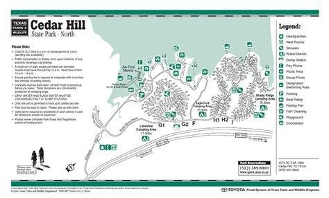 cedar hill state park map joe pool lake