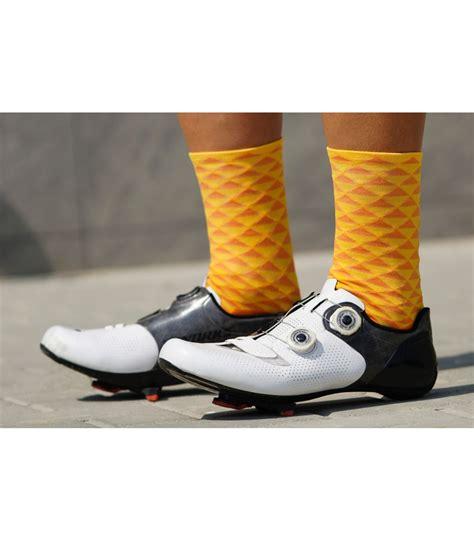 warm orange luxa warm orange cycling socks