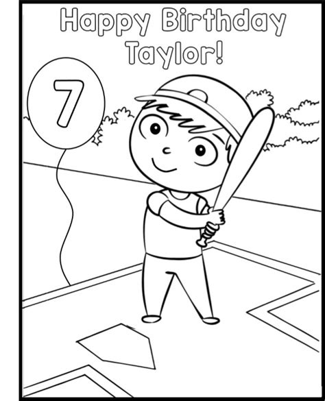 baseball birthday coloring pages baseball birthday party game ideas printables