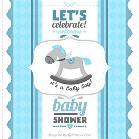 Baby Boy Images For Baby Shower by Retro Baby Shower Card For A Boy Vector Premium