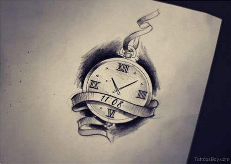 fine tattoo designs clock drawing www pixshark images galleries