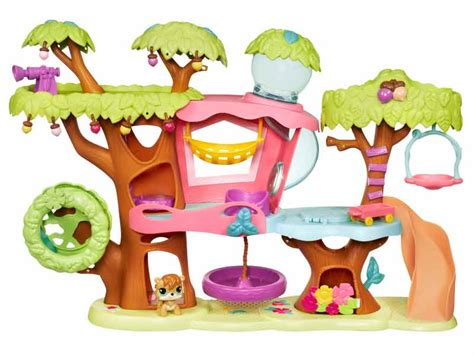 littlest pet shop treehouse playset toys