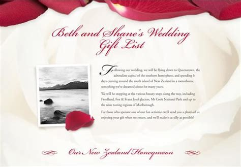 Wedding Registry Honeymoon Fund by Exle Honeymoon Funds And Wedding Gift Lists Buy Our