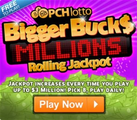 What Is Pch Lotto - the pchlotto bigger bucks rolling jackpot bigger is better pch playandwin blog