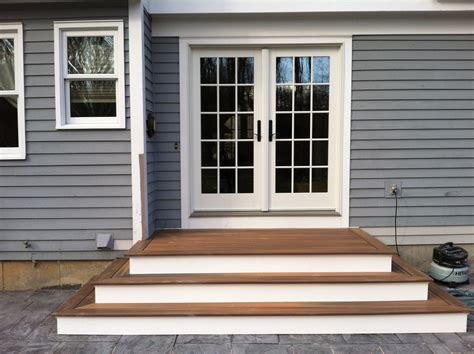 Steps To Patio Back Door We Recently Finished The Steps Back Patio Doors
