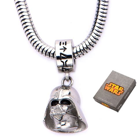 25 Wars Darth Vader Necklace Kalung Fandom Import Murah stainless steel wars darth vader charm on 16in chain swdv3dch nk1