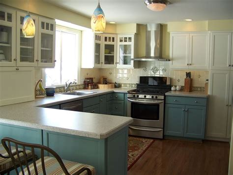 Kitchen Decorations For Above Cabinets Craftsman Kitchen With Flush Light By Deborah Roides