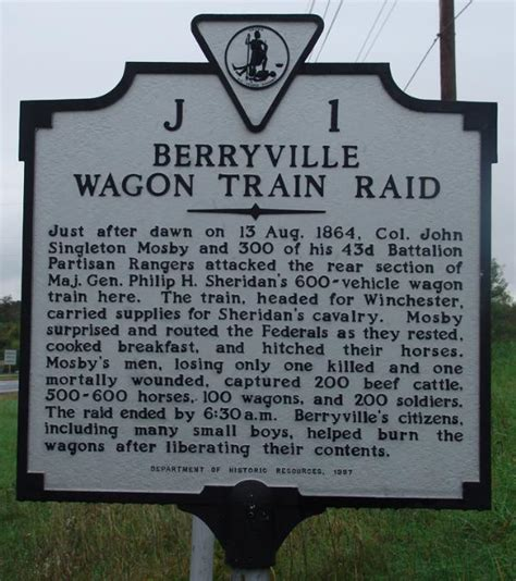 code of virginia section 23 7 4 berryville wagon train raid virginia historical markers