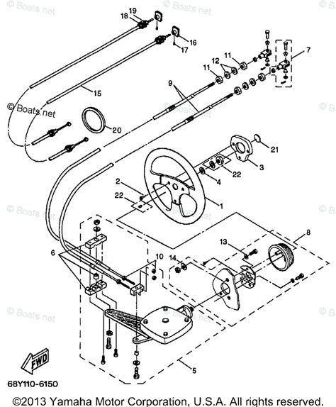boats net yamaha parts yamaha boat parts 2000 oem parts diagram for steering
