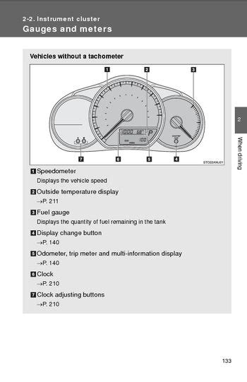 vehicle repair manual 1997 toyota paseo instrument cluster 2014 toyota yaris instrument cluster pdf manual 12 pages