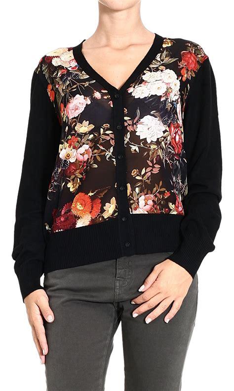 flower pattern cardigan frankie morello sweater cardigan flowers pattern in floral