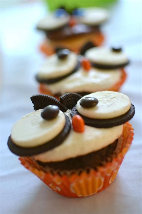 Owl Oreookie Cupcakes Great Fall Nocturnal Animals