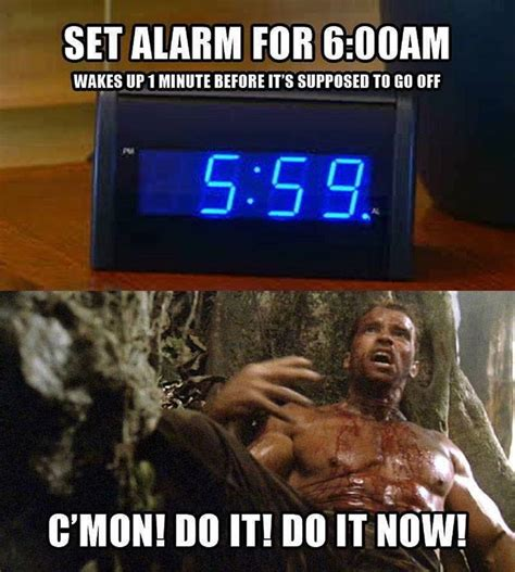 Alarm Meme - that moment you wake up just before your alarm clock goes