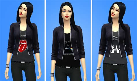 Jaket Vest Hoodie Xcom 2 Advent 3 my sims 4 simlish band shirts with leather jacket