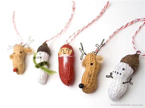 awesome etsy find christmas peanut ornaments by raw bone
