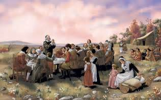 The pilgrim s first celebrated harvest festival in the new world what