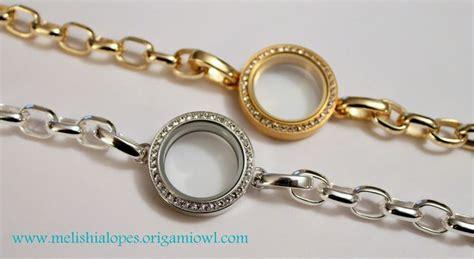 origami owl gold link locket bracelet
