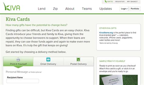 Kiva Gift Card - 19 holiday gift programs that benefit nonprofits