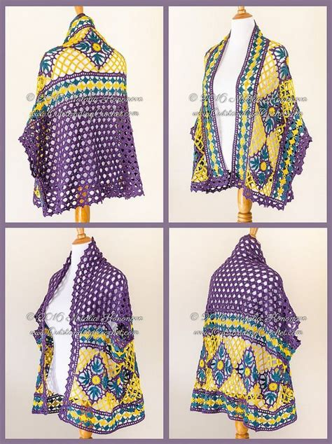 New Pashmina Motif Premium 103 best ponchos images on crochet shawl crochet batwing tops and crochet