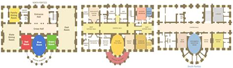 Floor Plan For The White House by Washington Dc