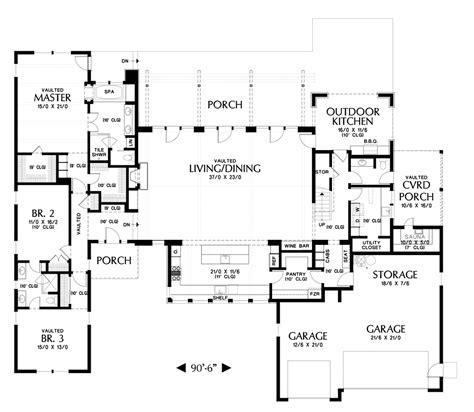 industrial loft floor plans mascord house plan 23102 the tilikum