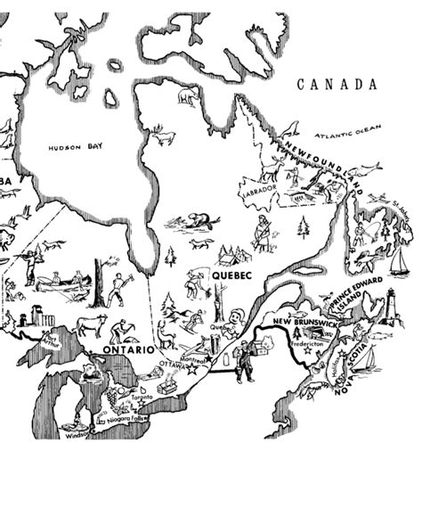 Bluebonkers : Canada Day / Map of Eastern Canada