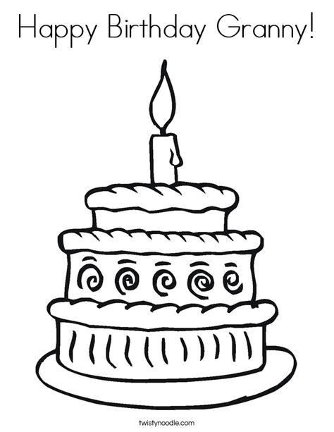 happy birthday granny coloring pages happy birthday granny coloring page twisty noodle