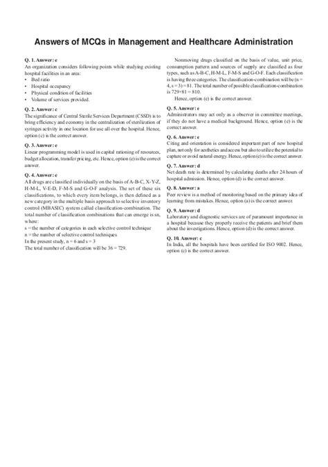 healthcare administrationcase study