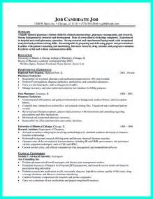 Resume Objective Exles Pharmacy Technician What Objectives To Mention In Certified Pharmacy Technician Resume