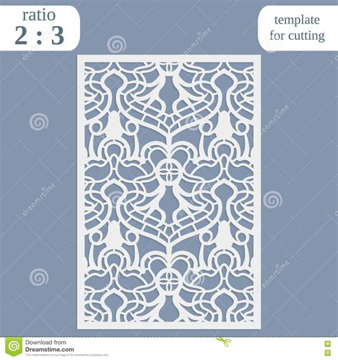 Cutting Templates Card by Laser Cut Wedding Card Template Paper Openwork Greeting